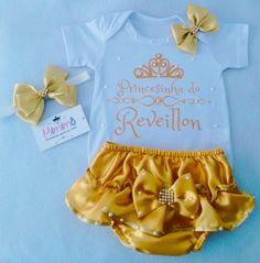 Kit Reveillon luxos da Mimimô Onesies, Clothes, Alice, Wraps, 1, Women, Fashion, Baby Clothes Girl, Infant Girl Fashion