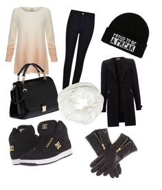 """Černý zimní outfit"" by jana-zy on Polyvore featuring Joie, Armani Jeans, Miu Miu, DC Shoes and Betsey Johnson"