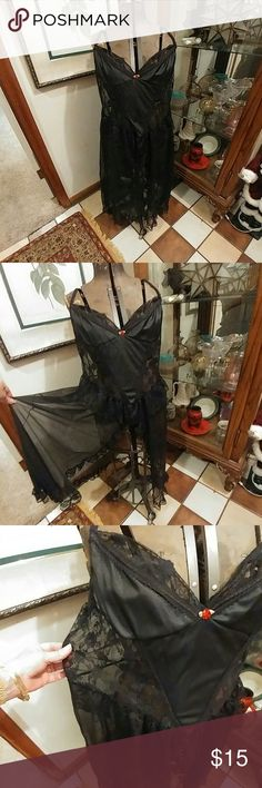 Plus size Vintage sheer flyaway negligee nightgown Vintage 70s sheer black flyaway negligee nightgown from Jill Andrea of New York, goth witchy sexy, size xxl, great condition with no flaws.   Plus size Sexy Vintage lingerie.  Made in USA, 100% nylon.   Price firm unless bundled.  Thanks Vintage Intimates & Sleepwear