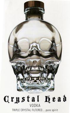 Crystal Head VODKA  頭蓋骨 髑髏 ドクロ の クリスタル ヘッド ウォッカ 1750ml 40度 マグナムボトル Crystal Head Vodka  がい骨 骸骨 ガイコツ スカル クリスタルウォッカ クリスタル ウォッカ   年中無休即日発送 お酒の河内屋