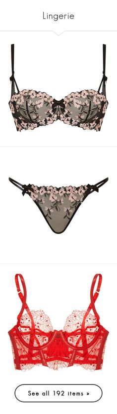 """""""Lingerie"""" by asia-syso ❤ liked on Polyvore featuring intimates, bras, lingerie, underwear, underwear/swimwear, underwire shelf bra, bow lingerie, bow bra, padded lingerie and padded underwire bra"""