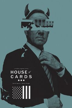 House of Cards alternative movie poster by TheArtOfAdamJuresko