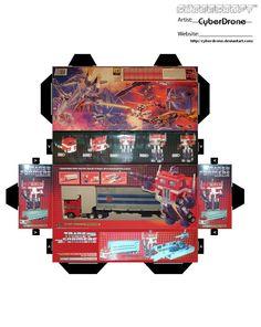 Mini Optimus Prime Toy Box by CyberDrone.deviantart.com on @DeviantArt