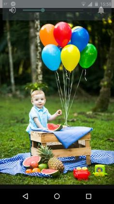 Baloes Smash Cake First Birthday, Boy First Birthday, First Birthday Parties, First Birthdays, Outdoor Cake Smash, Baby Boy Photography, Children Photography, 1st Birthday Pictures, Baby Party