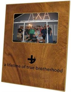 Lambda Chi Alpha on Wood Grain Picture Frame Personalized Photo Frames, Personalized Coasters, Lambda Chi Alpha, Kappa, Fraternity Gifts, Decoupage Plates, Sorority Gifts, Picture Logo, Monogram Frame