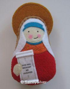 Saint Sarah the Matriarch Felt Saint Softie by SaintlySilver, $19.00