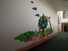 Tactile mural in a school corridor by Mike Ayres Design www.mikeayresdesign.co.uk