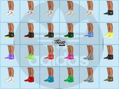 Sneaker Adidas in 24 combinations color.  Found in TSR Category 'Sims 4 Shoes Male'