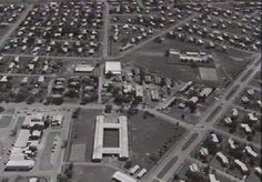 Aerial view of Parap. PPS in centre. Parap pool on right  1968.