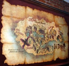 From the queue area of Pirates of the Caribbean at Tokyo Disneyland. Pirate Treasure Maps, Pirate Maps, Adventure Quest, Pirate Adventure, Diving Board, Pirate Life, Tokyo Disneyland, Pirates Of The Caribbean, Tolkien