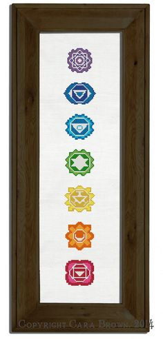 Instant download pattern for a counted cross stitch of the seven Chakras. This easy needlepoint project makes a nice spiritual meditation art