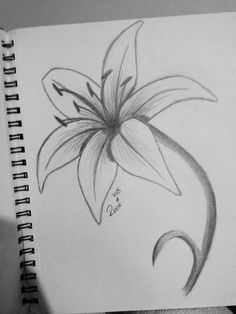 45 Creative Tattoo Drawings For Your Inspiration - Page 42 of 45 - SeShell Bl. Pencil Drawings Tumblr, Art Drawings Sketches Simple, Art Drawings For Kids, Easy Drawings, Tattoo Drawings, Tattoos, Flower Sketch Pencil, Pencil Drawings Of Flowers, Flower Sketches