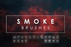 20 Smoke PS Brushes by Freezerondigital on @creativemarket
