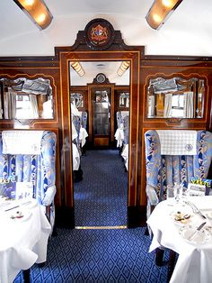 Picture of interior of Simplon-Venice Orient Express - British Pullman - photo David J Rodger