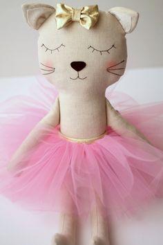 https://flic.kr/p/wJyzCF | Ballerina cat | Handmade stuffed cat with pink tutu…