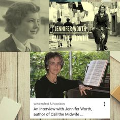Jennifer Worth RN RM was a British nurse and musician. She wrote a best-selling trilogy of memoirs about her work as a midwife practising in the poverty-stricken East End of London in the 1950s. Born: September 25, 1935 Died: May 31, 2011