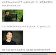 Definitely Dean's kid!