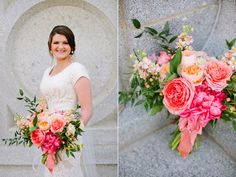 coral wedding flowers coral wedding bouquet coral garden rose bouquet stunning summer wedding bouquets utah calie rose