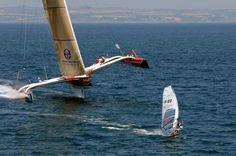 Hydroptere VS Windsurf