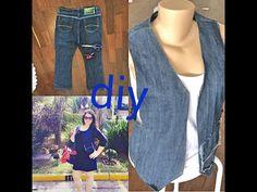 Vestido jeans feito com pernas de calça - Looks da internet - Suellen Redesign - YouTube