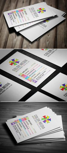Color Business Card - Business Cards on Creattica: Your source for design inspiration