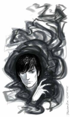 fanart on The Grisha trilogy (by Leigh Bardugo) the Darkling sketch
