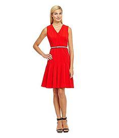 Calvin Klein Petites Sleeveless Belted Sheath Dress #Dillards