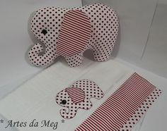 Especialmente criado para seu bebê. Esse Kit é muito fofo, naninha e toalhinha de boca.  Também uma ótima opção para presentear em chás de bebê.  Pode ser confeccionado em outras cores.