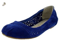 Toms Women's Ballet Flats Cutout Blue Moroccan Casual Shoe 6 Women US - Toms flats for women (*Amazon Partner-Link)