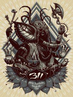 311 Raleigh Artist Edition Poster | Stormcloudz