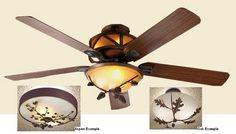 """Timbers 60"""" Ceiling Fan w/Light Bowl Kit, $684.95"""