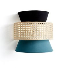 Dolkie Rattan Cane Wall Light Shade LA REDOUTE INTERIEURS The Dolkie rattan cane wall light shade offers a range of colours and sizes. Luminaire Mural, Luminaire Design, Wall Light Shades, Tons Clairs, Rattan Lamp, Contemporary Wall Lights, Home Furnishing Accessories, Suspended Lighting, Structure Metal
