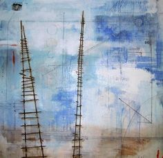 I've Been Trying To Reach You mixed media painting by Brandi Downham