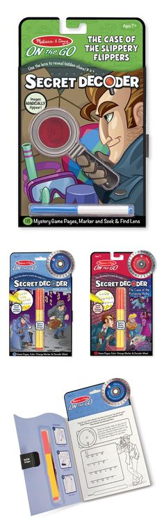 This exciting spy activity book has 18 game pages of mysteries to solve. A few turns of the included decoder wheel--bound right into the book and visible from every page--will help detectives-in-training complete each challenge as they put their deductive skills to the test!