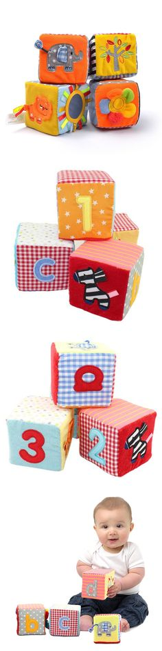 4 in 1 set New Infant Baby Cloth Soft Educational Toys Alphanumeric Multi-function Building Block WJ288 $14.99