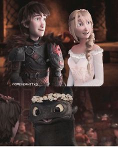 Hiccstrid wedding and Toothless being silly. :)