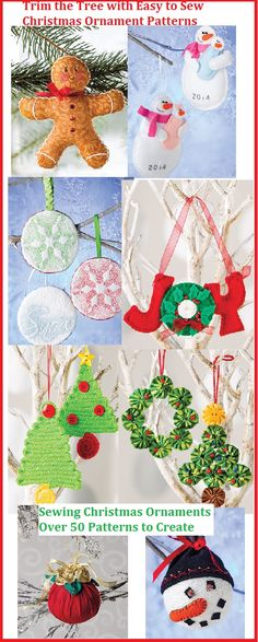 Easy to Make Christmas Ornament Crafts -  Patterns