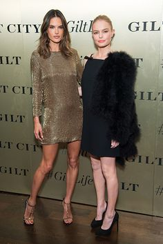Model Alessandra Ambrosio and actress Kate Bosworth attend the #GiltLife launch party on September 27 2016 in New York City