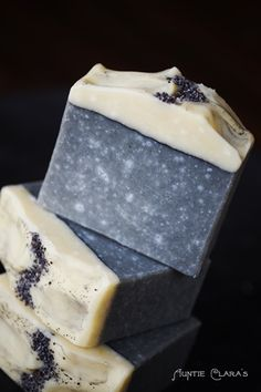 No Recipe, but enough info on site to easily recreate something close: Silver Dapple Handcrafted Soap by Auntie Clara's