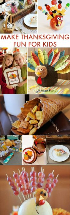 Make Thanksgiving Fun for Kids with these great holiday crafts and ideas. Fun activities to do together as a family and remember all you are thankful for.