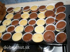 Hrnčekové muffiny Cheesecake Cupcakes, Desert Recipes, Sweet Recipes, Muffins, Food And Drink, Pudding, Sweets, Nutella, Baking