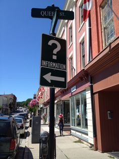 Port Hope Ontario. Tasteful directional sign. Directional Signs, Ontario, Broadway Shows, Direction Signs