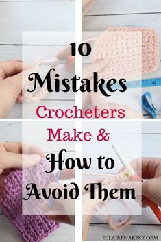 10 Common Mistakes Crocheters Make and How to Avoid Them - Stricken anleitungen,Stricken einfach,Stricken ideen,Stricken tiere,Stricken strickjacke Amigurumi For Beginners, Crochet Stitches For Beginners, Beginner Crochet Tutorial, Crochet Video, Crochet Instructions, Crochet Basics, Knitting For Beginners, Free Crochet, Crochet Projects For Beginners