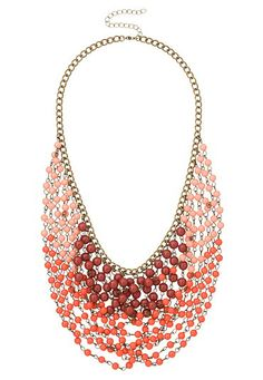 Ombre layered bib statement necklace (original price, $18) available at #Maurices