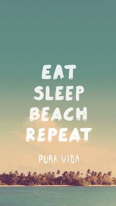 Eat Sleep Beach Repeat iPhone 6 Wallpaper