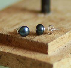 Boucles d'oreilles perles de culture grises et argent 925 : Boucles d'oreille par majela-bijoux