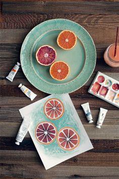 pintura naranja de sangre