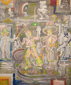 """""""Homage à Genet,"""" 1976 by Tennessee Williams (click through to an article about an exhibit of his paintings in New Orleans. rw)"""