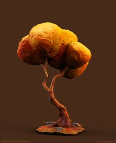 Autumn Tree, Oliver Schümann on ArtStation at… Low Poly, 3d Tree, Tree Art, Environment Concept Art, Environment Design, Blender 3d, Vegetal Concept, Cartoon Trees, Forest Illustration