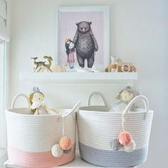 Actually Stylish Toy Storage That Won't Detract From Your Decor - - Some smart toy storage ideas to get you inspired, whether you're ready to build something custom or buy something ready-to-use. Playroom Storage, Kids Room Organization, Bed Storage, Storage Baskets, Storage Ideas, Baby Toy Storage, Playroom Ideas, Storage Containers, Nursery Toys